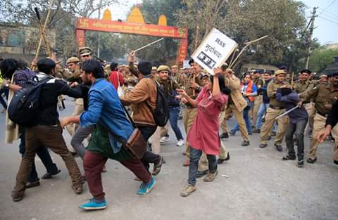 Delhi Police Joins Hands With RSS Thugs to Launch Violent Attack on Agitating Students