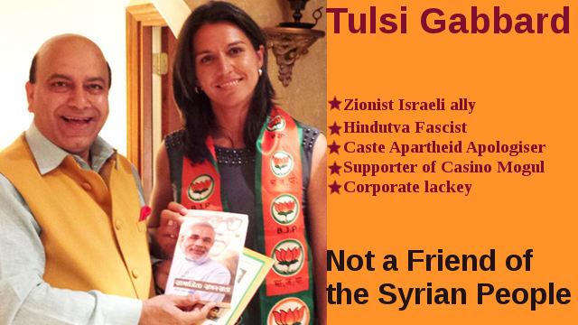 Fascist Tulsi Gabbard is not a friend of Syrian People