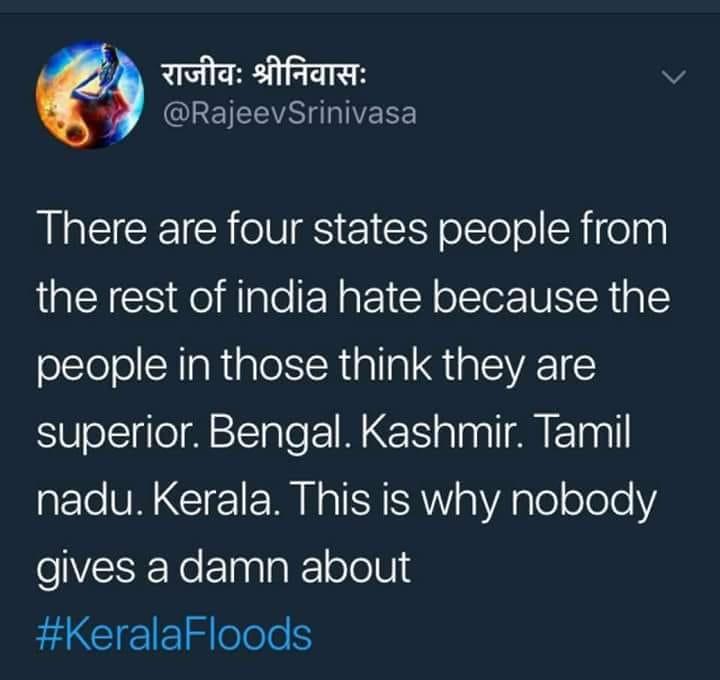 RSS Men spewing venom against Kerala flood victims