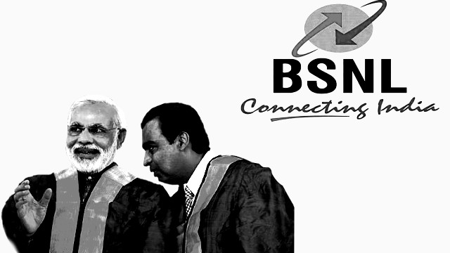 BSNL crisis aggravated by Modi's patronage to Reliance Jio