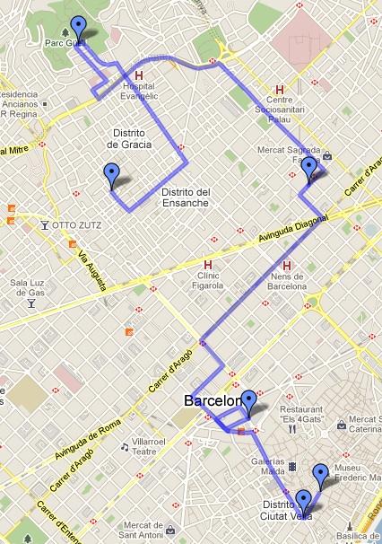 Itinerario 1 Barcellona