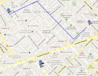 Itinerario 3 Barcellona