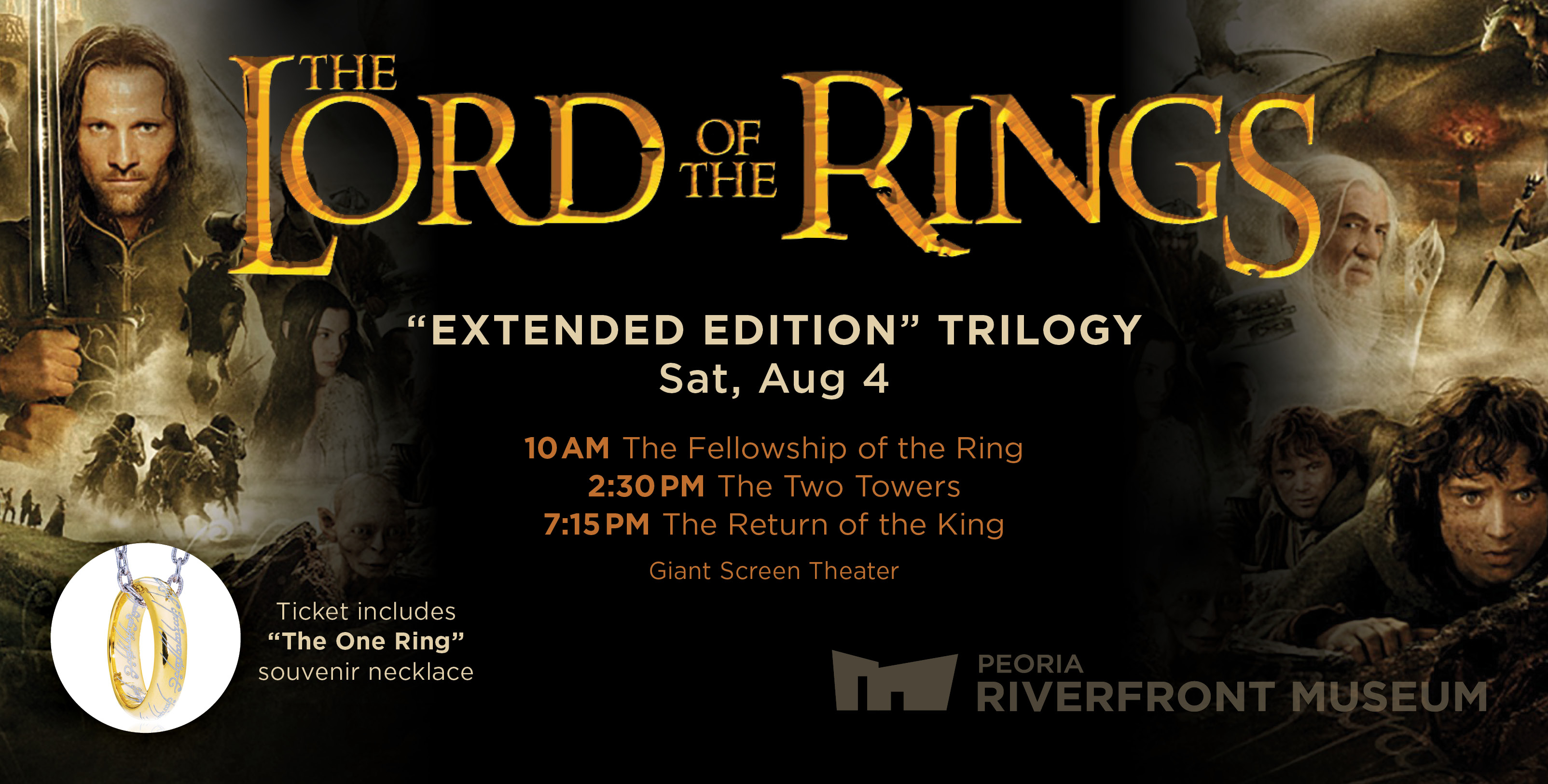 giant screen theater lotr