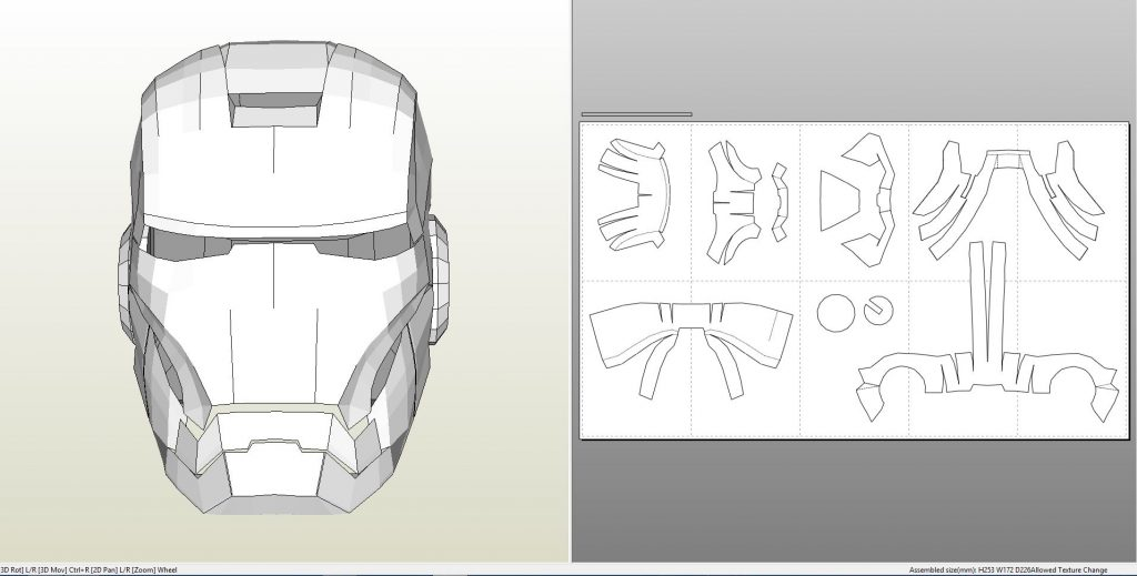 Foamcraft pdo file template for iron man mark 7 full for Iron man foam armor templates