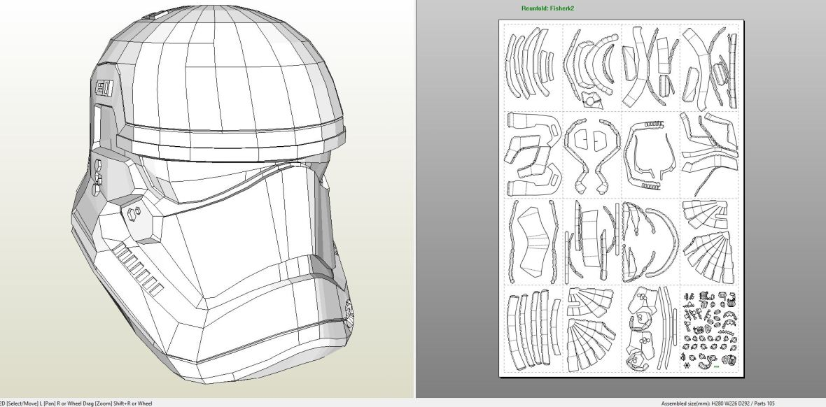 Papercraft .pdo file template for Star Wars - EP 7 ...