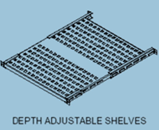 depth adjustable shelves