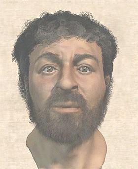 Reconstrucción del posible rostro de Jesús por R.  Neave y la BBC.