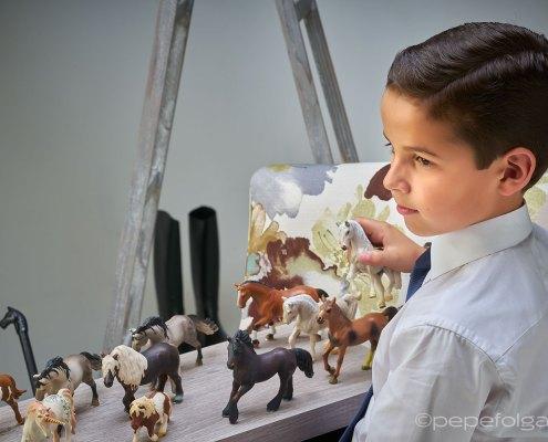 fotos artísticas de comunion en estudio y exteriores