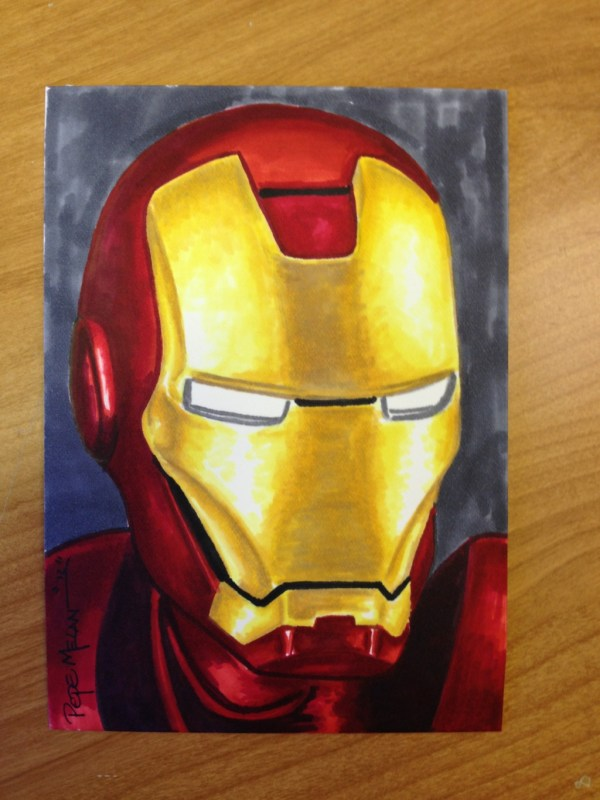 Iron Man Copic Marker Illustration Pepe Melan Art