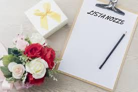 Lista nozze per matrimonio
