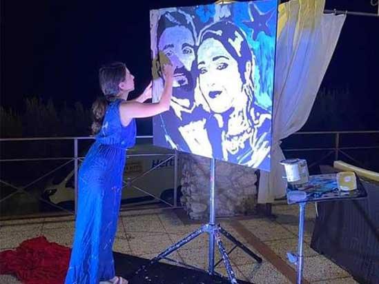 pop-art pepenero al matrimonio