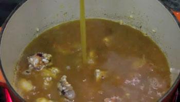 caldo para arroz meloso