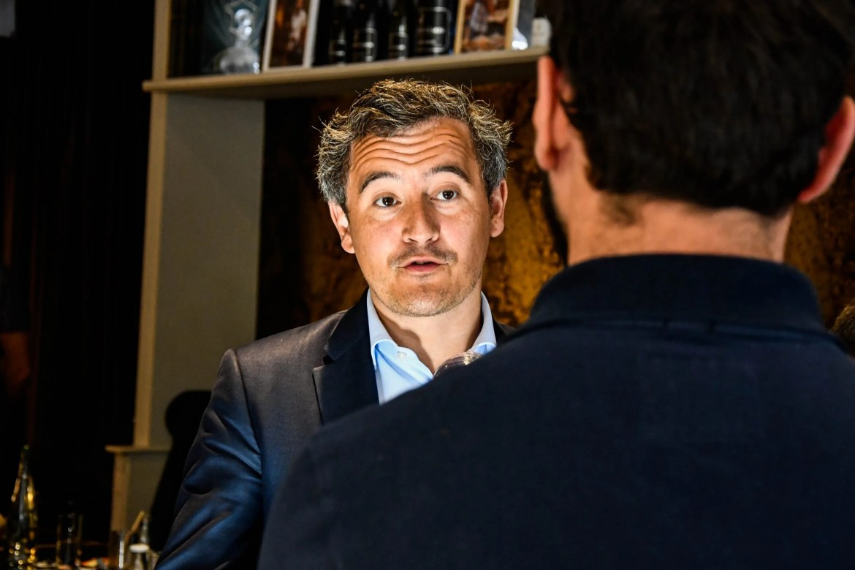 Gérald Darmanin était à Lille pour apporter son soutien à Violette Spillebout, candidate LREM au Beffroi.