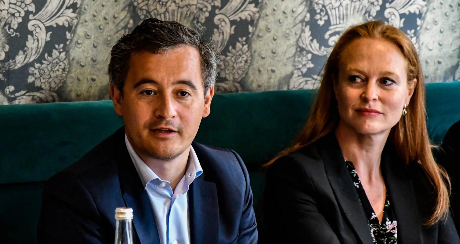 Gérald Darmanin et Violette Spillebout lors de la conférence de presse sur l'économie et la MEL.
