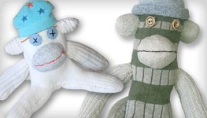 One-of-a-Kind Sock Monkeys