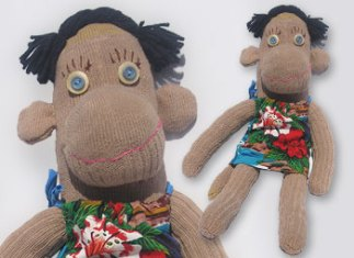 Waiki-key One-of-a-Kind UPcycled Sock Monkey | © Pepe & Sherina Designs™