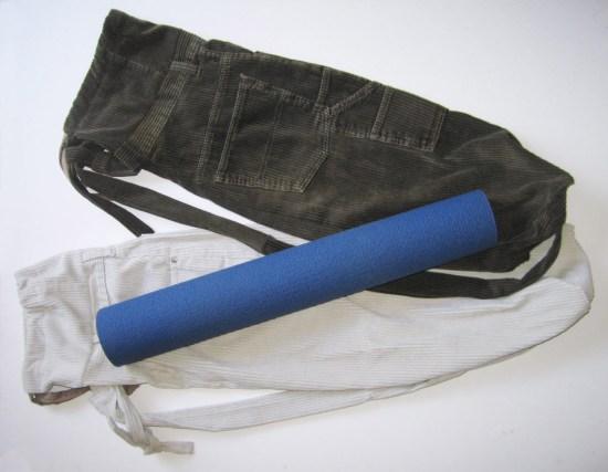 Corduroy UPcycled Yoga Mat Tote Bags | © Pepe & Sherina Designs™