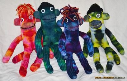 Pepe & Sherina Designs Tie Dye Sock Monkeys
