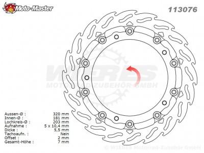 Moto-Master Flame Series Racing 5,5mm vorne Bremsscheiben