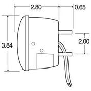 STOP/TAIL/TURN LAMP, RED/CLEAR, 80 SERIES 80463R
