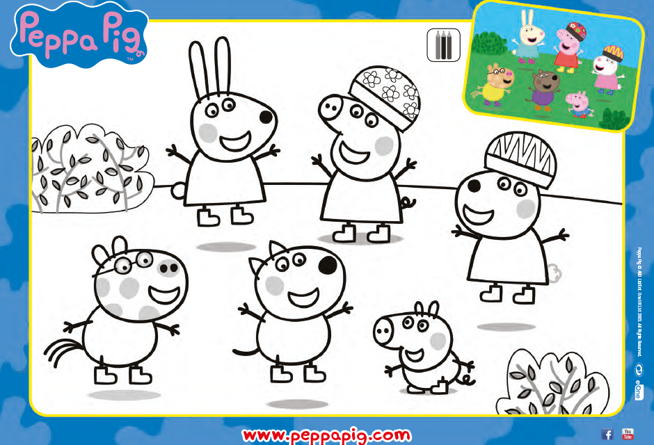Peppa Pig Coloring Pages Friends