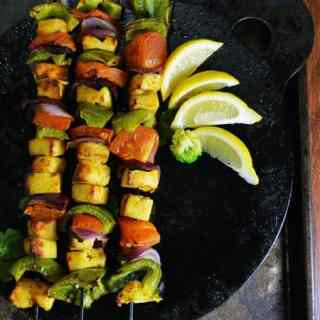 Paneer Tikka in Oven with vegetables