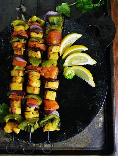 Tandoori Paneer Tikka-Baked Cottage Cheese with veggies