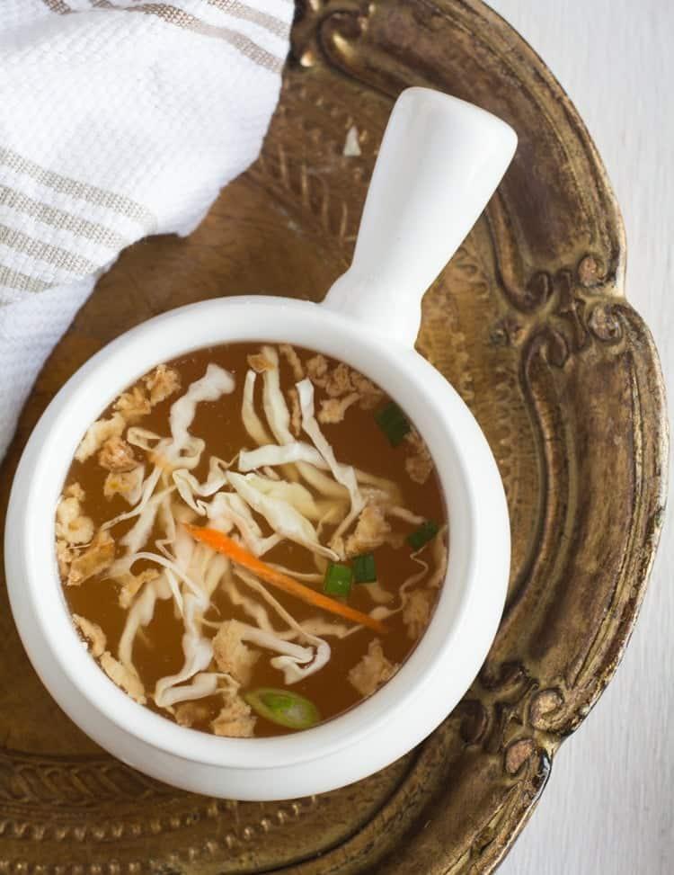 vegan hibachi soup recipe
