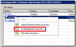 Veeam Back-up  recovery