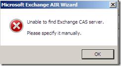 Veeam Restore wizard CAS Error