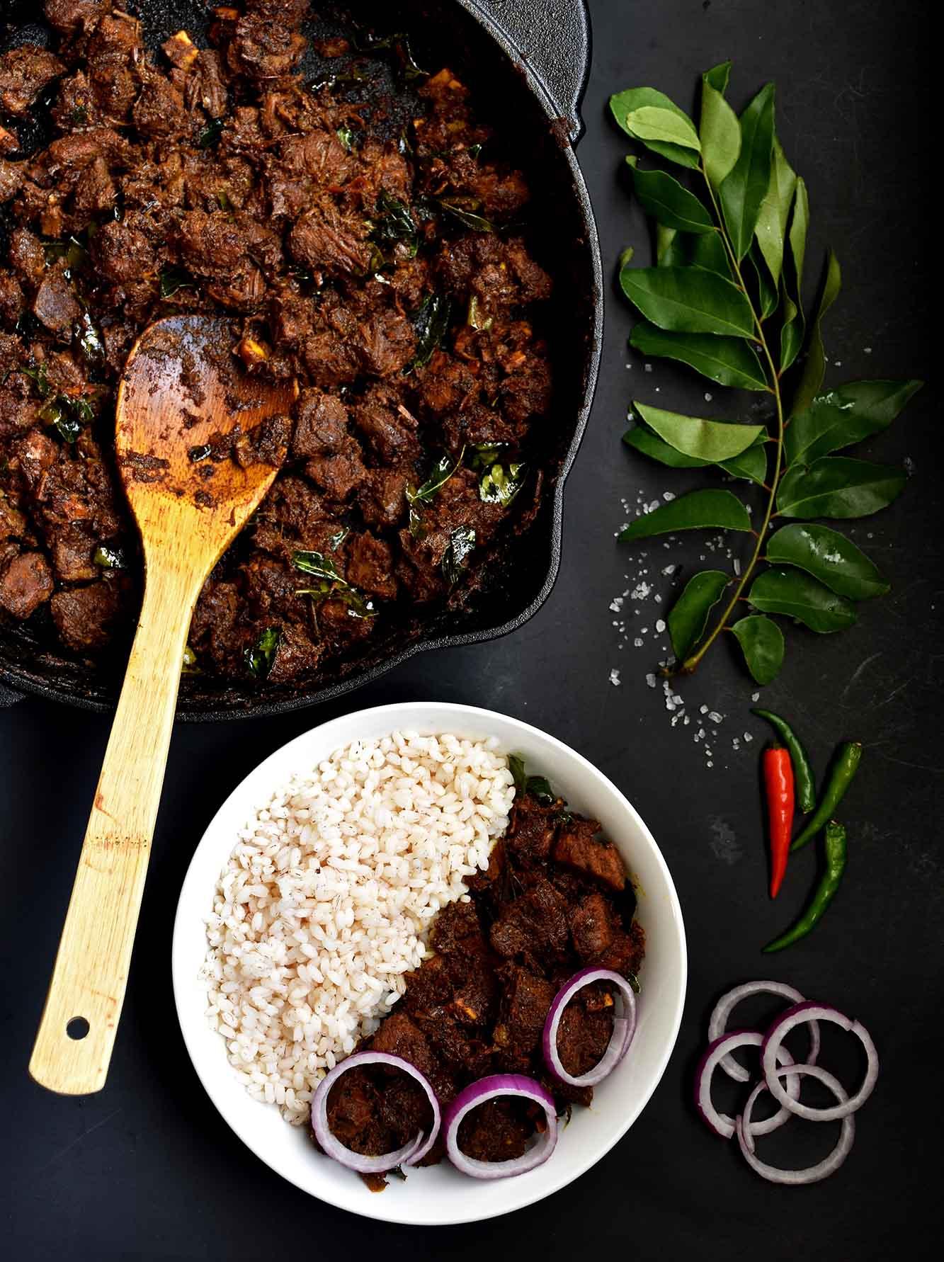 Beef Ularthiyathu Beef Dry Roast Pepper Delight