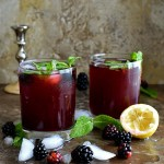 Blackberry Lemon Ginger Cooler - Pepper Delight #pepperdelightblog #recipe #drink #blackberry #summerdrinks #summerrecipes #celebration #christmas #nonalcholic #fruitdrinks #ginger #summer #gingersyrup #blackberrydrink #berrydrinks