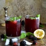 Blackberry Lemon Ginger Cooler - Pepper Delight #pepperdelightblog #recipe #drink #blackberry #summerdrinks #summerrecipes #celebration #christmas #nonalcholic #fruitdrinks #ginger #summer #gingersyrup #blackberrydrink #berrydrinks