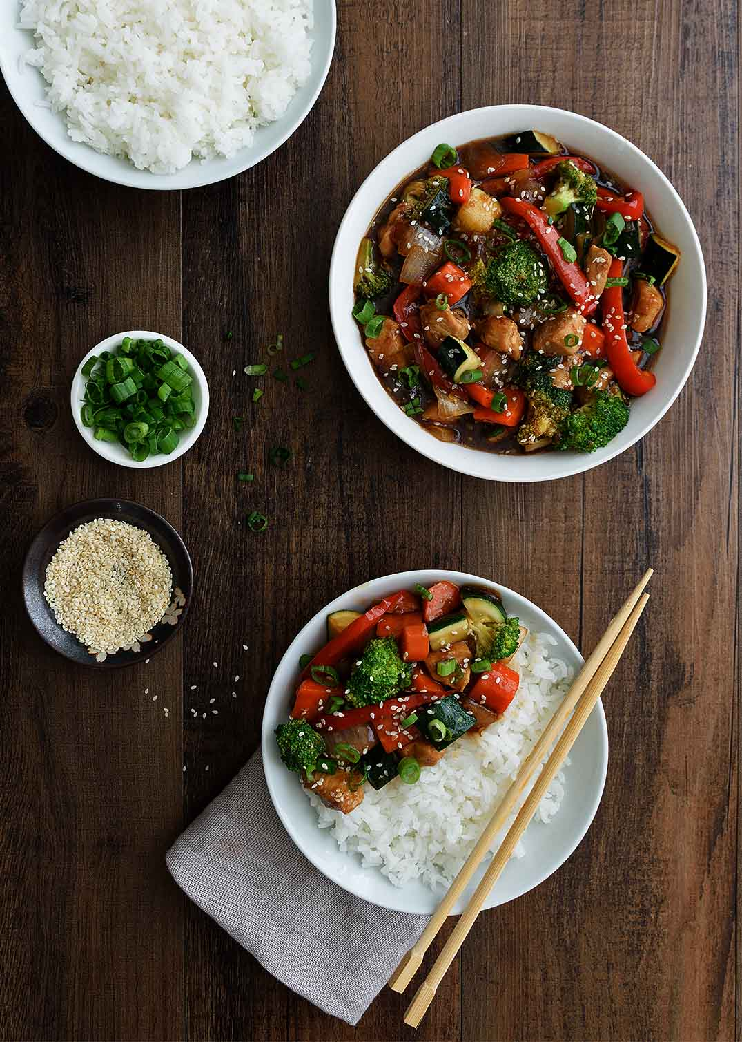 Teriyaki Chicken and Veggies - Pepper Delight #pepperdelightblog #recipe #teriyaki #teriyakichicken #teriyakisauce #japanese #asian #mealprep #healthy #30minutesrecipes #homemadeteriyakisauce #dinner #lunch #sidedish #party #weeknightmeal #comfortmeal