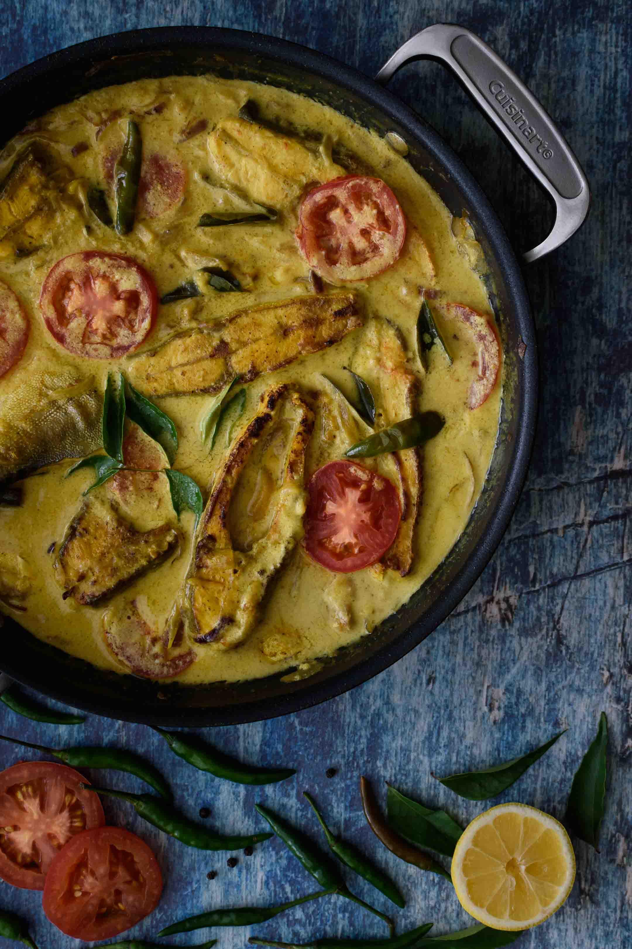 Fish Molly / Molee / Kerala Style Fish Stew - Pepper Delight