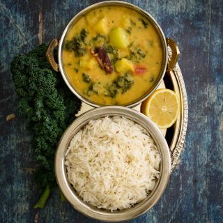 Kale and Zucchini Dal/Lentil Curry