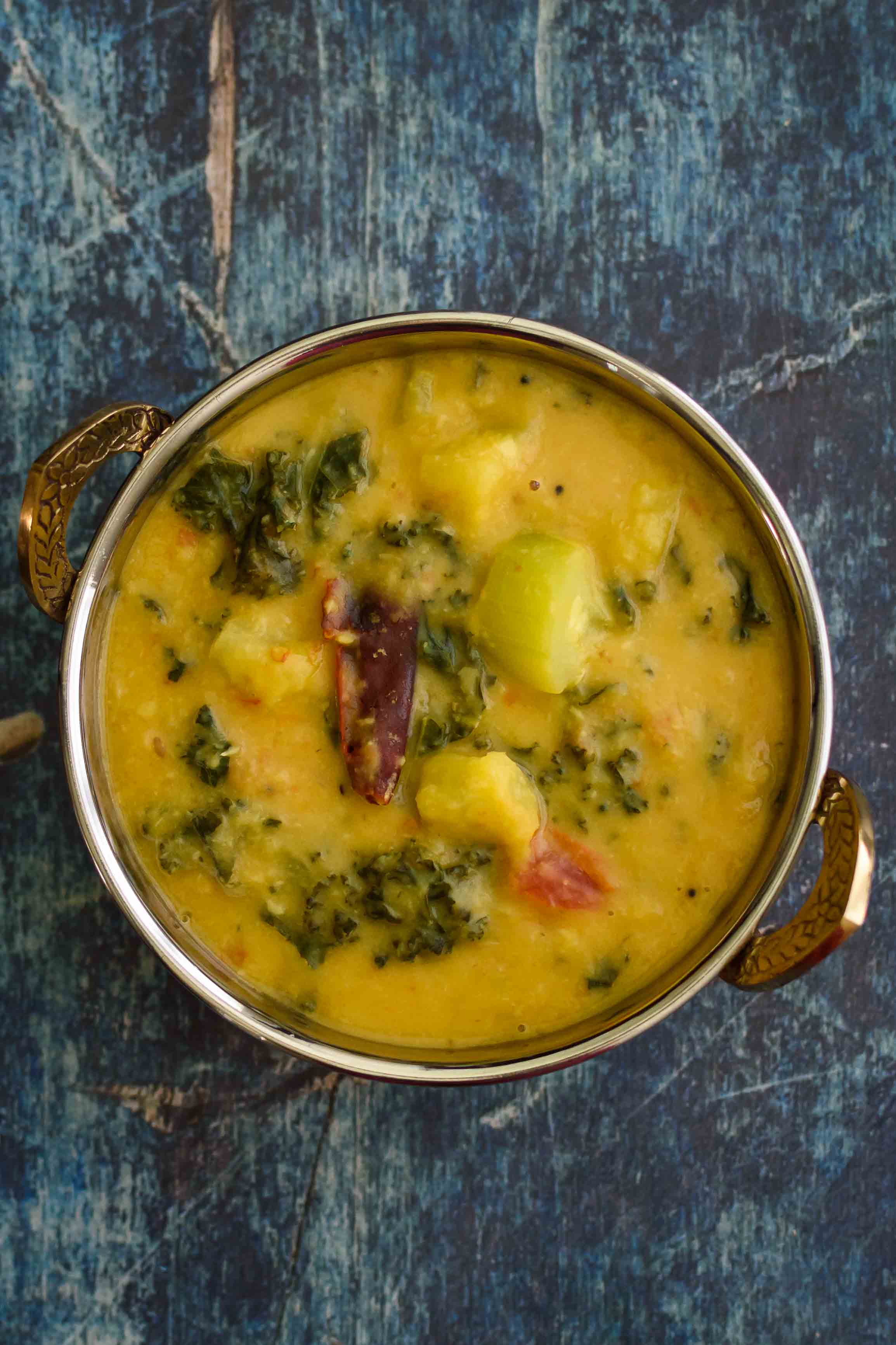 Kale and Zucchini Dal- Pepper Delight #pepperdelightblog #recipe #kaledal #dal #keralafood #indianrecipes #vegeterian #vegan #indianfood #zucchini #kalepappu #healthy #sidedish #kaleindianrecipe #zucchinidal #plantbased #cleaneating