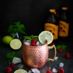 Raspberry Moscow Mule- Pepper Delight #pepperdelightblog #recipe #moscowmule #raspberrymoscowmule #cocktail #drinks #summerdrinks #winterdrinks #holidaycocktails #raspberrydrinks #gingerbeer