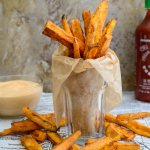 Sweet Potato Fries- Pepper Delight #pepperdelightblog #recipe #sweetpotatofries #sweetpotato #appetizer #starter #snacks #roastedpotatoes #partysnacks #vegan #vegeterian #steakfries #frenchfries