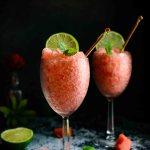 Watermelon Lime Granita- Pepper Delight #pepperdelightblog #recipe #watermelonlimegranita #granita #dessert #summerdessert #summerrecipes #watermelon #summercooler #limegranita #partyrecipes #easydessert