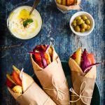 Veg Gyro- Pepper Delight #pepperdelightblog #recipe #gyro #veggyro #veggiewrap #vegetarian #greekfood #healthyfood #kidslunchboxideas #mealprep #roll #wrap #vegetariangyro #streetfood #tzatzikisauce #yogurtsauce #veggieburritos #greekstylewrap #meatlessmonday #rotiroll