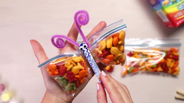 Butterfly Party Favors With Goldfish Crackers