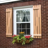 Board and Batten Shutters with Z-Bar - Exterior Wooden ...