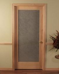 Opaque Single Prehung Passage Door in Unfinished Oak or Pine