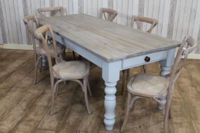 pine kitchen table block on wheels bespoke dining painted base peppermill interiors