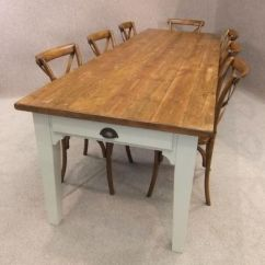 Large Kitchen Table Gold Sink Pine Country Farmhouse Peppermill Interiors