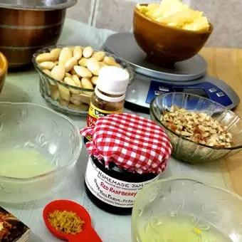 Ingredients for jam sandwich cookies_PepperOnPizza.com