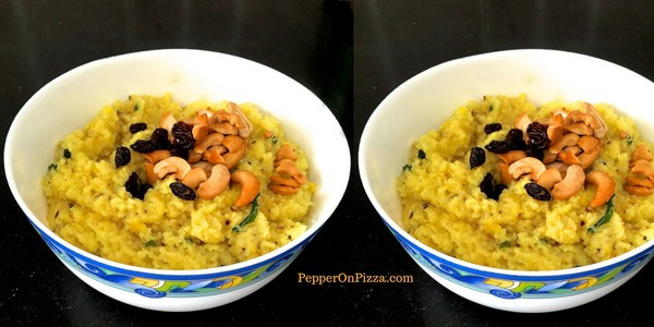 Ven Pongal – Lentils cooked with Rice