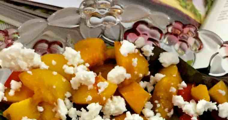 Honey Grilled Peach Salad with Feta