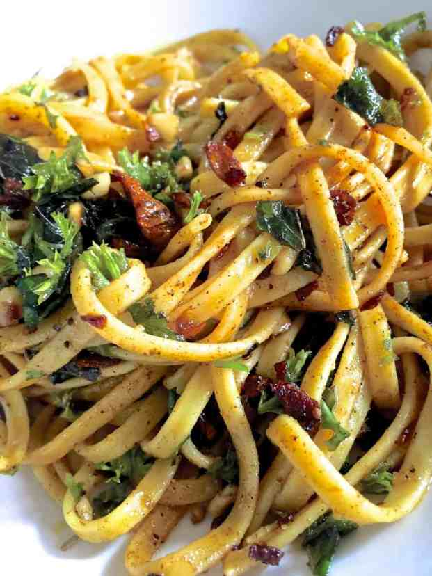Zafrani Saffron Linguine in Moroccan butter_Pepperonpizza.com